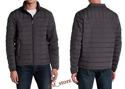 NWT Tommy Hilfiger DUCK DOWN PUFFER Bomber Mens Jacket L LARGE $195