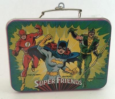 2000 Super friends Hallmark Ornament Lunch Box Set Superman Batgirl Flash