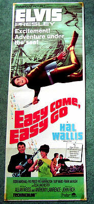 Elvis Presley - Easy come, easy go - Filmposter 1966 US - 33,5 x 89,5 cm / Rar