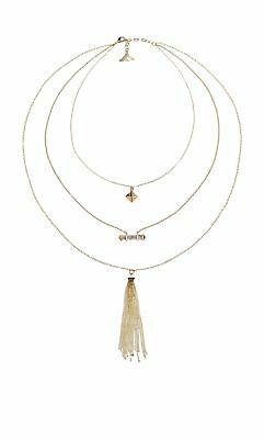 1286daa408a32 FIORELLI COSTUME FASHION Rose Gold Glass and Opal Necklace of Length ...