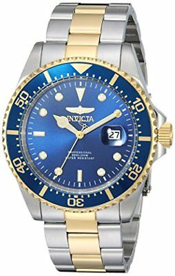 Invicta 22058 Mens Pro Diver Watch Gold/Silver 43mm Stainless Steel