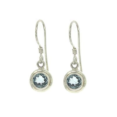 Nova Silver Small Round Earrings with Faceted Citrine F71veGpv