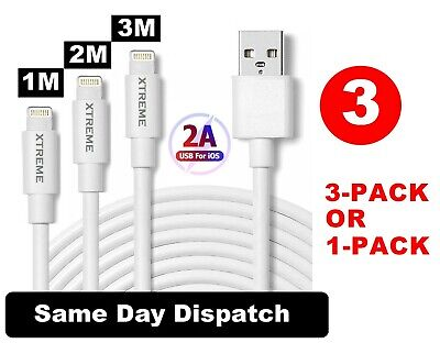 New Lightning Sync & Charger USB Data Cable For Apple iPhone X 8 7 6 iPad Air