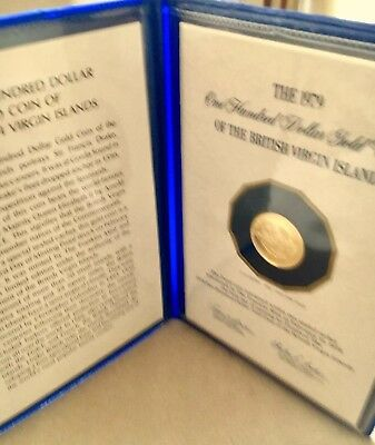 1979 $100 Gold Coin Of The British Virgin Islands