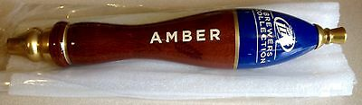 Vintage Miller Lite Beer Brewers Collection Amber Tap Handle New Old Stock