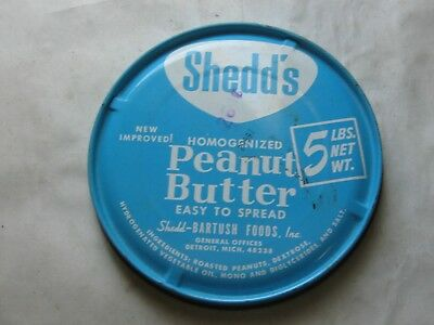 418Th-1 Shedd's 5 Lbs Homogenized Peanut Butter Lid