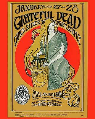 Grateful Dead Poster 8X10 Photo Music Rock Picture
