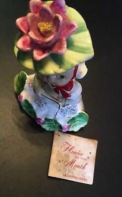 "1956 NAPCO July Girl of the Month Flower Figurine ""Water Lily"""