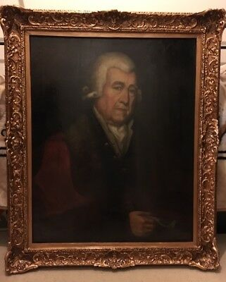 A finely executed large late 18th Century Portrait, an oil on canvas