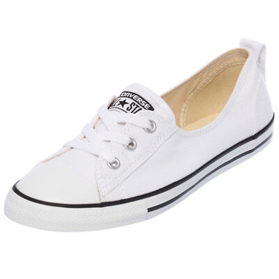 Converse Womens Chuck Taylor Ballet Shoes in White