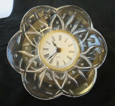 Vintage heavy Art Glass clock crystal mid century french art deco