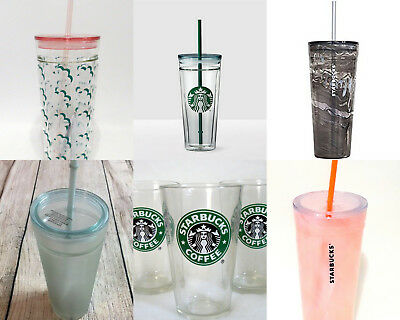 NEW Starbucks 2018 GLASS Cold Cup Same Day Shipping