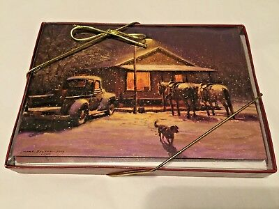 Leanin Tree NEW Set of 10 Christmas Cards Country Holiday Rustic #14924