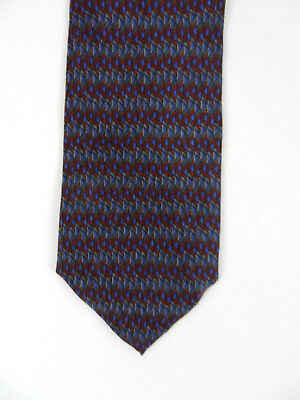 COCKTAIL COLLECTION Men's Neck Tie Gray Red Geometric Gin & Tonic 100% Silk USA