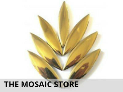XL Gold Ceramic Petals - Mosaic Tiles Supplies Art Craft