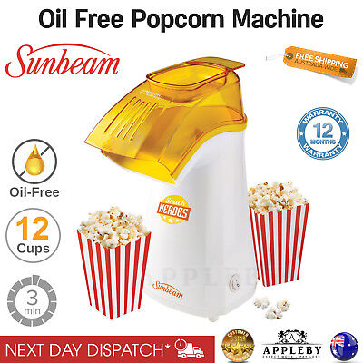 Sunbeam Popcorn Maker Machine Hot Popping Pop Corn Electric Popcorn Cooker Snack
