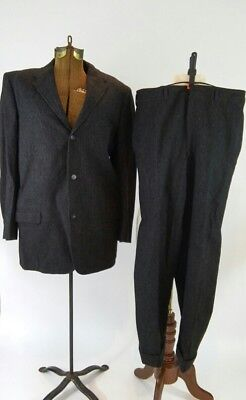 Vintage 1940/1950s Men's Wool Pinstripe Devonshire Suit- Styled by Fifth Ave.