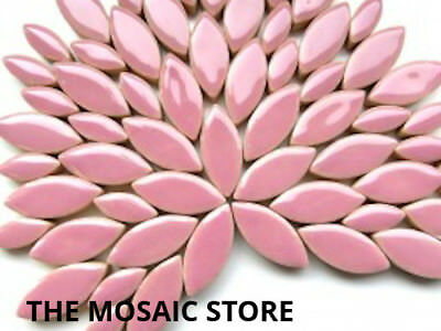 Lilac Ceramic Petals - Mosaic Art & Craft Supplies Tiles