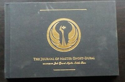 "STAR WARS Book, ""The Journal of Master Gnost-Dural"" Hardcover,  COLLECTORS Item"