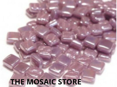 Iridised Lilac 8mm Glass Tiles - Mosaic Tiles Supplies Art Craft