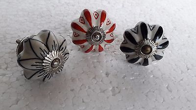 Door Knobs Ceramic Drawer Pull Unique Cabinet Knobs Lot Of 3
