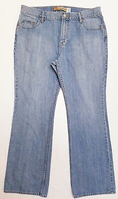d242828826a Old Navy women's Jeans denim light wash just below waist bootcut size 14  regular