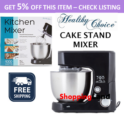 NEW Cake Stand Mixer Kitchen Benchtop Electric Beater Food Dough Hook Whisk Bowl