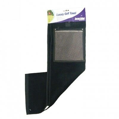 (One Size, Black) - Longridge - 2 Fold Towel with Mesh Pocket. Shipping is Free
