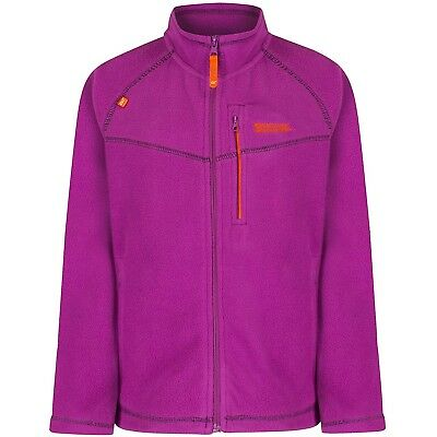 (7-8, Vivid Viola) - Regatta Children's Marlin V Fleece. Free Shipping
