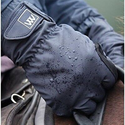 (Black, Small) - Woof Wear Waterproof Riding Gloves Navy. Free Shipping
