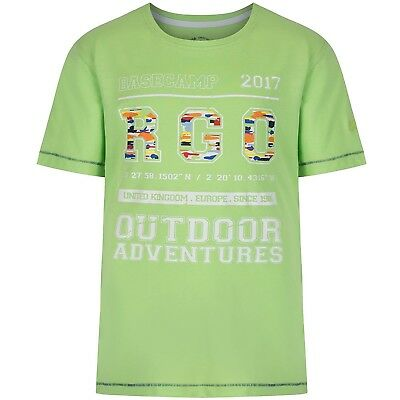(3-4 Years, Jade Lime College) - Regatta Children's Bobbles Ii T-Shirt