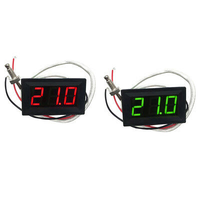 2pcs (Rot/Grün) LED DC 12V Auto KFZ Thermometer Panel-Meter -30 bis +800 ℃
