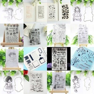 Transparent Clear Stamp Scrapbooking Stationery Photo Album Card Decor w/