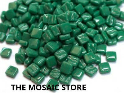 Dark Green 8mm Glass Tiles - Micro Small Mosaic Art Craft Supplies