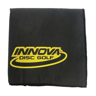 (Black) - Innova DewFly Microsuede Disc Golf Towel. Delivery is Free