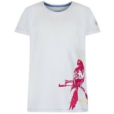 (Size 3 - 4, White Parrot) - Regatta Children's Bobbles Ii T-Shirt. Huge Saving