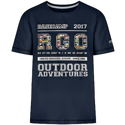 (11-12 Years, Navy College) - Regatta Children's Bobbles Ii T-Shirt