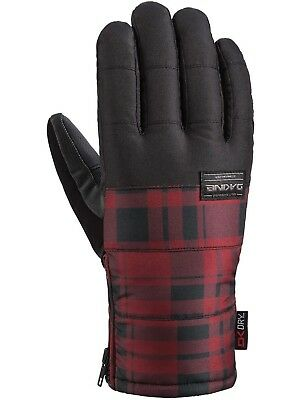 (Large, Redplaid) - Dakine Men's Omega Gloves. Free Delivery