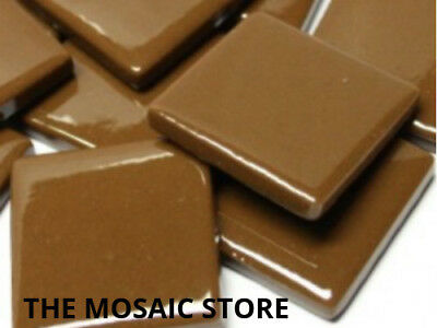 Coffee Gloss Glass Tiles 2.5cm - Mosaic Tiles Supplies Art Craft