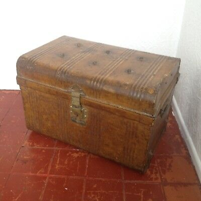 "Vintage ""Jones Brothers"" Tin Trunk, Chest, Haberdashers, Tailors, Shop Display"
