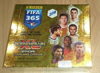 Panini FIFA 365 Adrenalyn XL 2018 Trading Cards - 1 Display / 24 Booster OVP