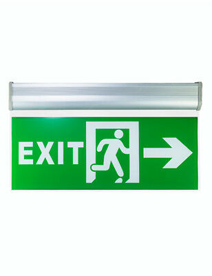 LED Emergency Exit Sign Blade 220V with Emergency 180 minute Ni-Cd Battery