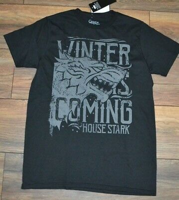 House Stark Game of Thrones Winter is Coming Official Licensed T-Shirt Tee