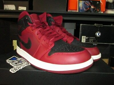 4088b99ddb638f NIKE AIR JORDAN 1 Mid Gym Red Black White Bred Banned lot 554724 610 ...