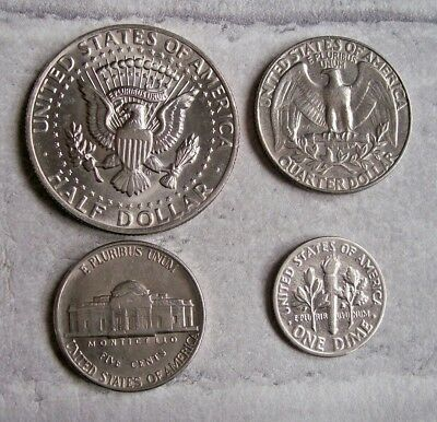 Usa - Half Dollar - Quarter Dollar - 5 Cents - 1 Dime Coins - Various Dates.