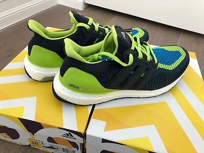 54fc27d201d03 BRAND NEW ADIDAS UltraBoost Solar Slime Navy US Size 10 Box Included ...
