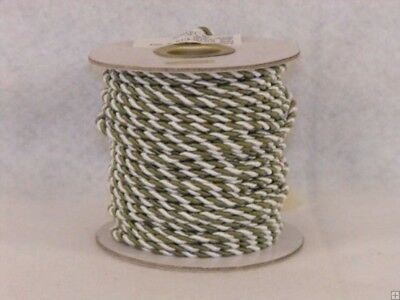 (Willow & White) - 2 mm Twine Cord 25 Yard Roll Multi Colour (Willow & White)