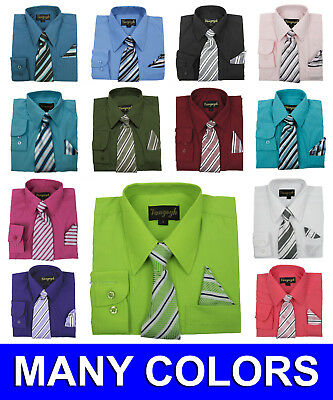 Boys Dress Shirts with Matching Tie and Hanky New Vangogh Sizes 2T to 20