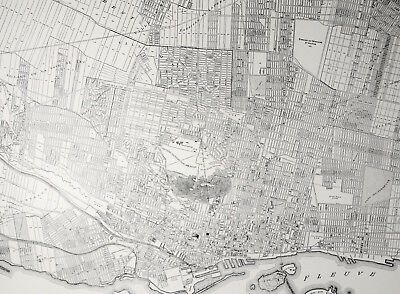 image regarding Printable Map of Montreal known as 1937 ANTIQUE MONTREAL Map - Aged B W Metropolis Print - Common Canada Artwork -