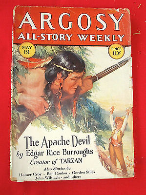 PULP Magazine SCIENCE FICTION ARGOSY ALL-STORY 1928 MAY 19 Vol. 195 N° 1 ERB